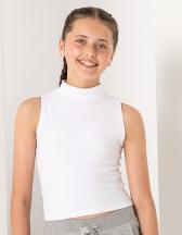 Kids High Neck Crop Vest